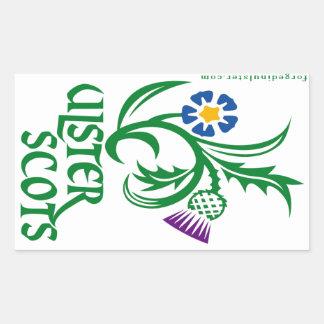 Diseño Ulster-Escocés del lino y del cardo Pegatina Rectangular