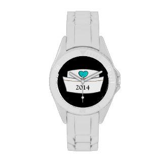 Diseño único 2014 del casquillo de la enfermera relojes