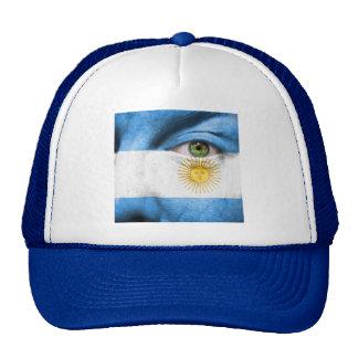Diseño único de la bandera de la Argentina Gorra