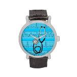 Diseño único de las tiras del reloj EKG de la enfe