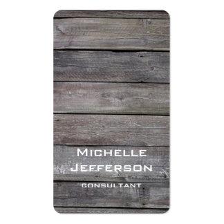 Diseño único de madera artístico vertical tarjetas de visita