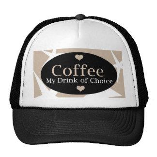 Diseño único del café gorra