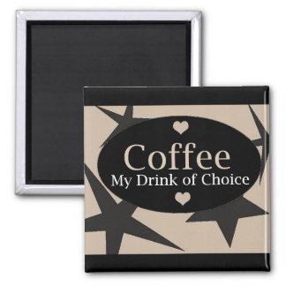 Diseño único del café imán de frigorifico
