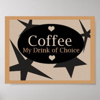 Diseño único del café posters