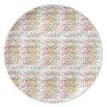 Diseño ÚNICO del fondo del friki: Añada la imagen  Plato Para Fiesta