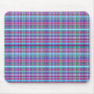 Diseño único femenino de la tela escocesa de la fr alfombrilla de ratones