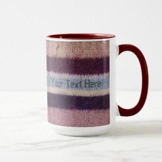 diseño único hecho punto colorido de la diversión taza