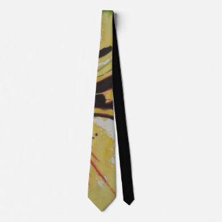 diseño único rojo y blanco amarillo negro corbata personalizada