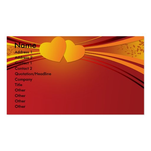 diseño unido de los corazones tarjeta de visita