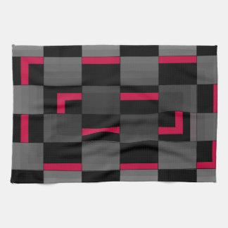 Diseño urbano de la ciudad roja de neón del tabler toallas de mano