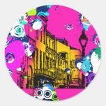 diseño urbano de la salpicadura de la pintura de l pegatina redonda