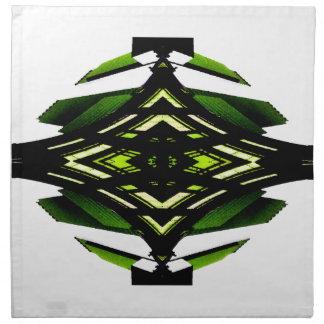 Diseño urbano verde de neón del futurismo del esti servilleta
