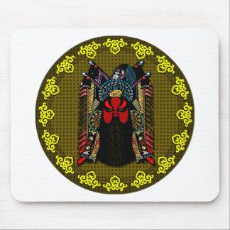 Diseño v2 de la máscara de la ópera de Pekín del c Alfombrilla De Raton