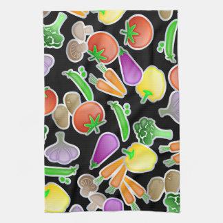 Diseño vegetal mezclado sano del papel pintado toalla