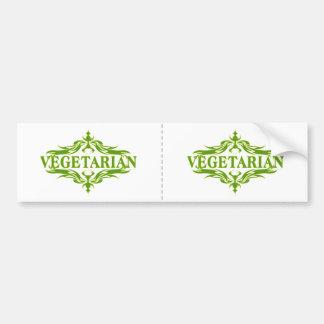 Diseño vegetariano bonito pegatina de parachoque