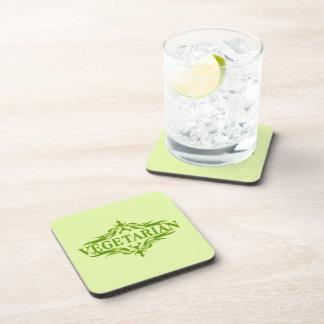 Diseño vegetariano bonito posavasos de bebidas