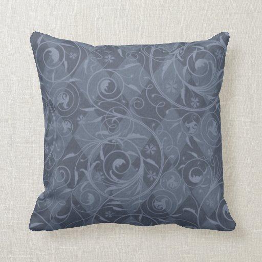 Diseño veneciano azul del relevo de la pizarra cojin
