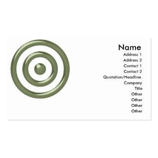 Diseño verde 3 de la diana:: Tarjeta de visita