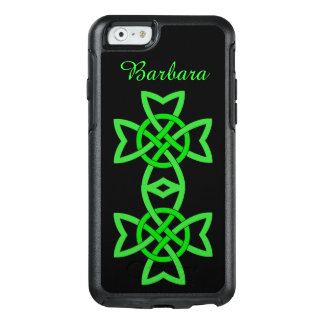 Diseño verde anudado doble céltico irlandés funda otterbox para iPhone 6/6s