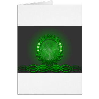 Diseño verde asombroso felicitaciones