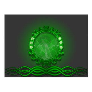 Diseño verde asombroso postales