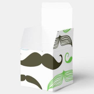 Diseño verde, azul y negro del bigote caja para regalos