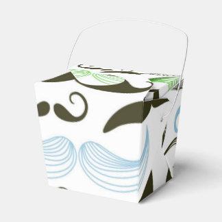 Diseño verde, azul y negro del bigote cajas para detalles de boda