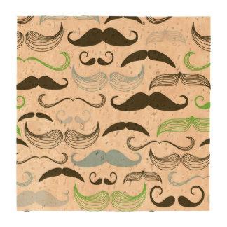 Diseño verde, azul y negro del bigote posavasos