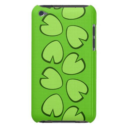 Diseño verde claro lindo de las hojas del cojín de iPod Case-Mate protectores
