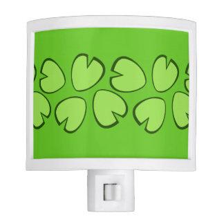 Diseño verde claro lindo de las hojas del cojín de luz de noche