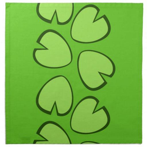 Diseño verde claro lindo de las hojas del cojín de servilleta