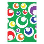Diseño verde colorido de las bolas de los puntos d anuncios personalizados