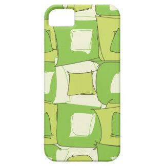 Diseño verde de Apple y blanco abstracto del color iPhone 5 Case-Mate Cobertura