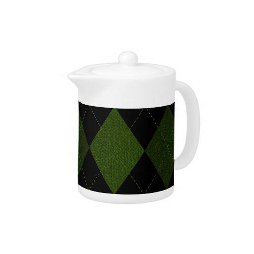 Diseño verde de Argyle del vintage