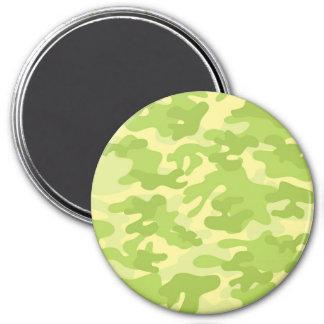 Diseño verde de Camo Imán Redondo 7 Cm