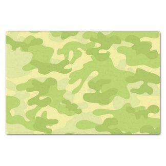 Diseño verde de Camo Papel De Seda Pequeño