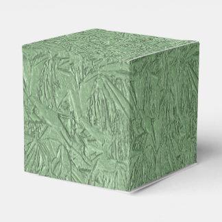 Diseño verde de la hoja cajas para regalos de boda