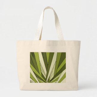 Diseño verde de la salida del sol del art déco bolsa lienzo