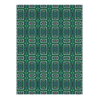 Diseño verde de la tela del nativo americano comunicados personalizados