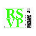 Diseño verde de neón de RSVP que se casa de gran Sellos