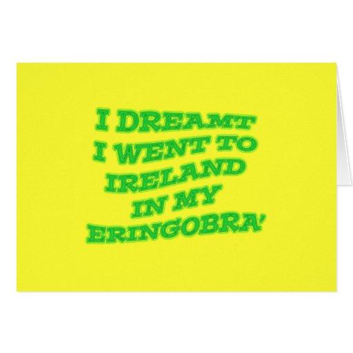 Diseño verde de neón del día de Eringobragh St.Pat Tarjeta De Felicitación