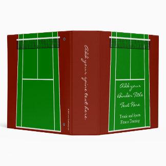 """Diseño verde del campo de tenis carpeta 2"""""""