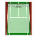 Diseño verde del campo de tenis membrete