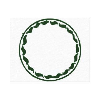 Diseño verde del círculo del chile lona envuelta para galerias