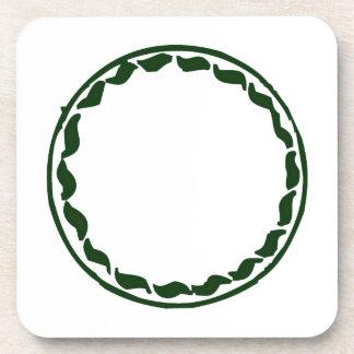 Diseño verde del círculo del chile posavasos de bebidas
