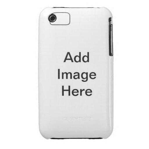 Diseño verde del damasco de DIY su propio teléfono iPhone 3 Cobertura