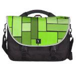 Diseño verde del entarimado bolsa para ordenador