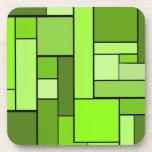 Diseño verde del entarimado posavaso