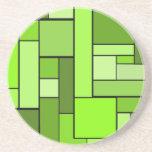 Diseño verde del entarimado posavasos manualidades