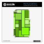 Diseño verde del entarimado iPod touch 4G calcomanía